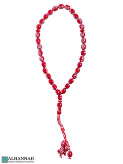 Red Tasbih beads