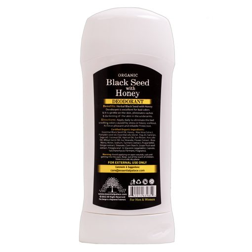 Halal Black Seed Deodorant with Honey Back
