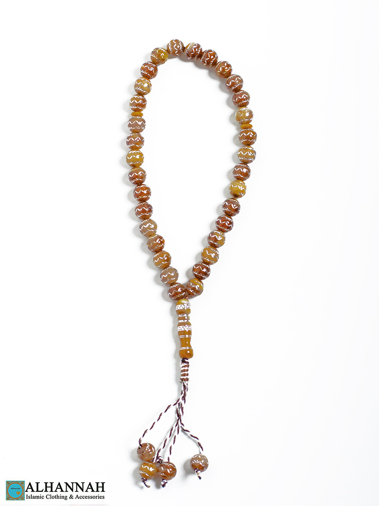Tasbih Beads in Amber Color