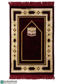 Turkish Prayer Rug Kaaba Motif Red