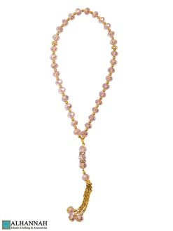 Pink Crystal Tasbih Beads