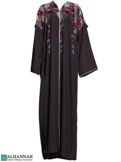 Bordado Abaya Marrón