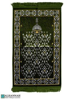 Islamic Prayer Rug Scrolling Vines design