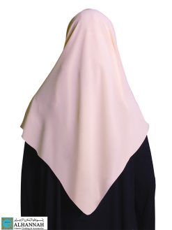 Square Chiffon Hijab Tropical Peach