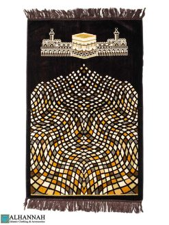 Prayer Rug Kaaba and Mosque Design