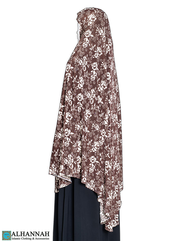 Extra Long Amira Hijab in Coco Rose Print